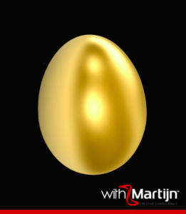 Golden egg withMartijn