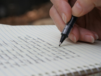 Writing my thoughts down on paper